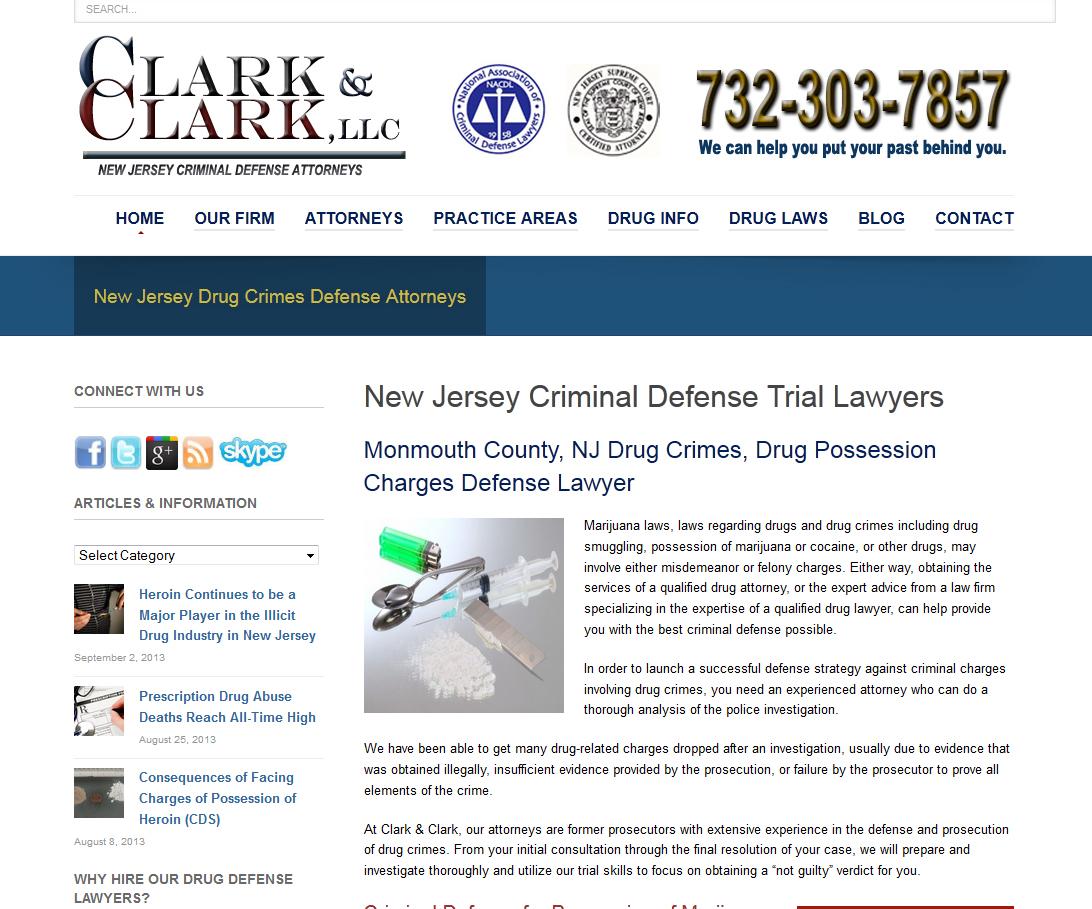Drug Crimes Defense Lawyer Website