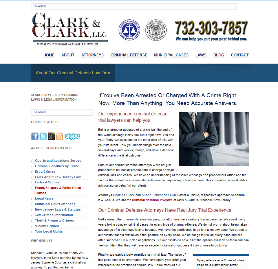 Monmouth County NJ Criminal Defense Attorney Website
