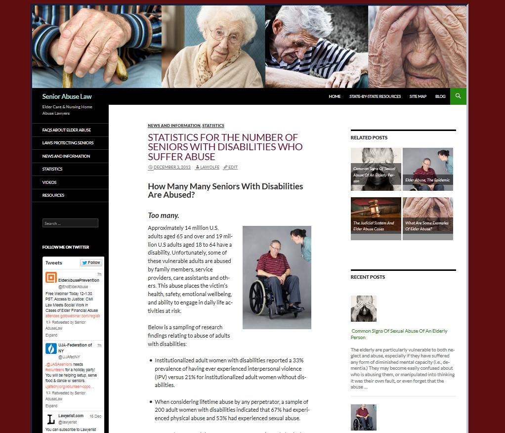 Elder Abuse Law Website For Sale