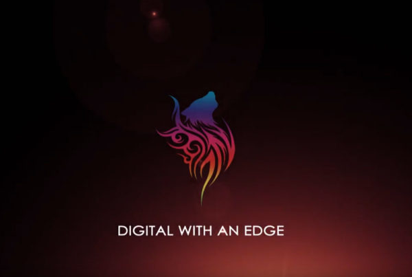 Digital With an Edge ad campaign with tricolor logo for LAWolfe Digital Marketing