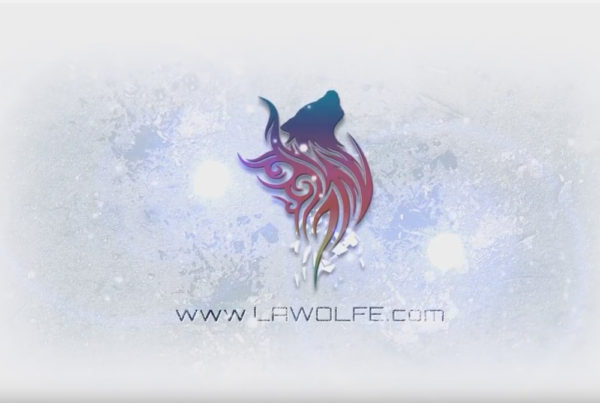 We love snow logo reveal in Adobe AE with LAWolfe Digital Marketing logo in blue, red and yellow